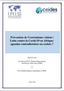 Prévention de l'extrémisme violent / lutte contre la Covid 19 en Afrique : agendas contradictoires ou croisés ?