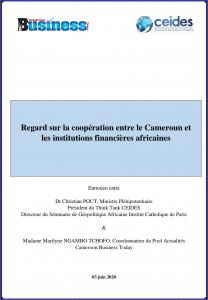 Regard sur la coopération entre le Cameroun et les institutions financières africaines