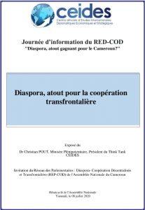 Diaspora, atout pour la coopération transfrontalière