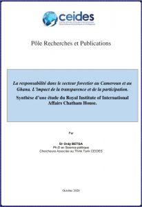 La responsabilité dans le secteur forestier au Cameroun et au Ghana