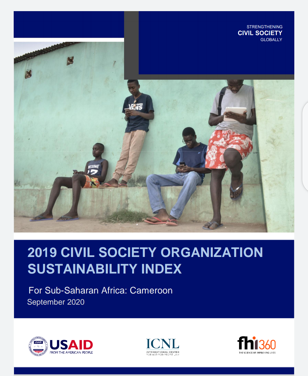 Rapport du Civil Society Organizations Sustainability Index (CSOSI) Cameroon