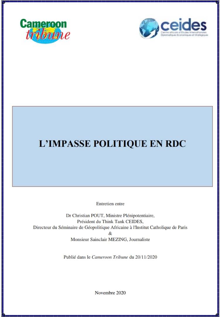 L'IMPASSE POLITIQUE EN RDC