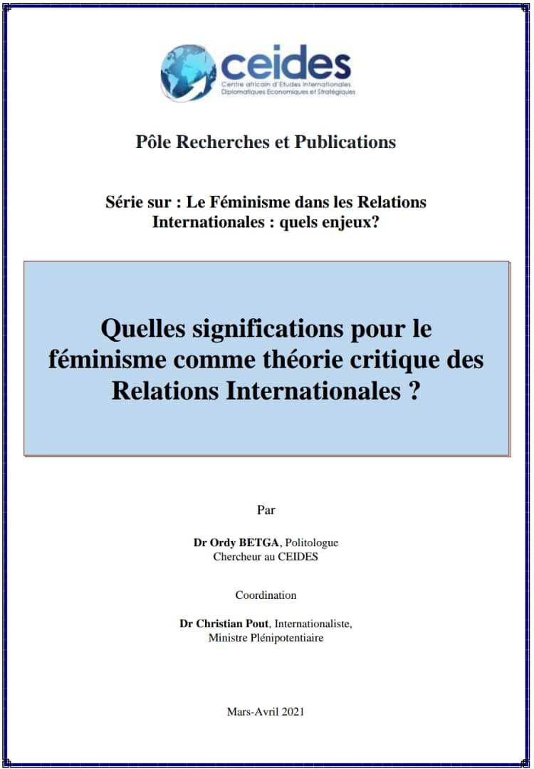 Quelles significations pour le féminisme comme théorie critique des Relations Internationales ?