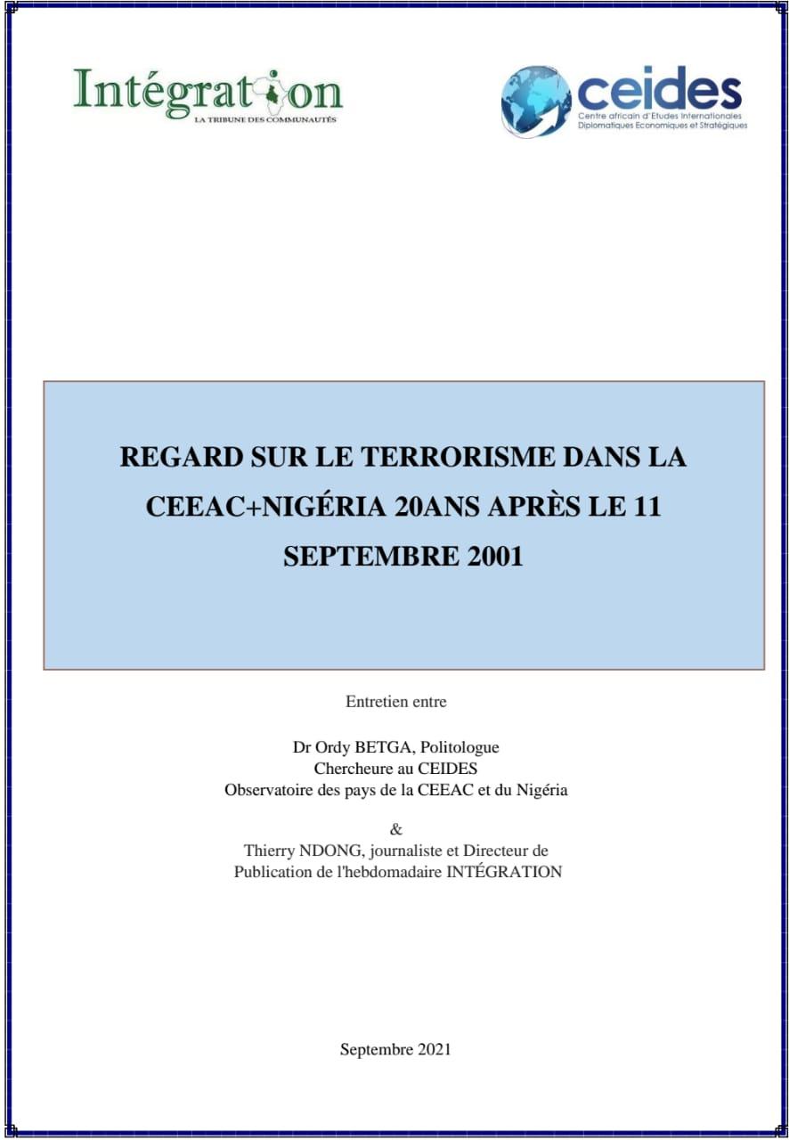 Regard sur le terrorisme dans la CEEAC+Nigéria 20ans après le 11 septembre 2001